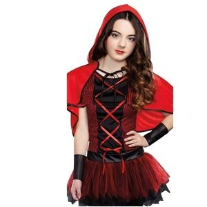 Jrs Hooded Cutie Red Riding Hood Halloween Costume